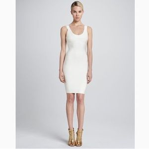 Herve Leger Beautiful white bandage dress NEW TAGS